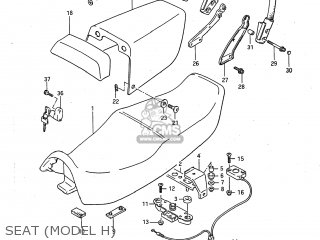 Suzuki GSXR750 1987 (H) USA (E03) parts lists and schematics