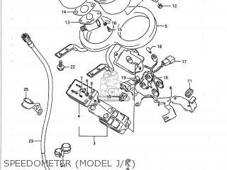 Suzuki GSXR750 1988 (J) USA (E03) parts lists and schematics