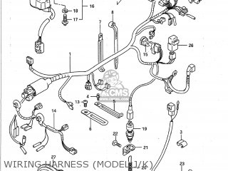 Suzuki GSXR750 1988 (J) USA (E03) parts lists and schematics