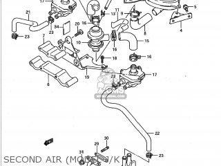 Suzuki GSXR750 1989 (K) USA (E03) parts lists and schematics
