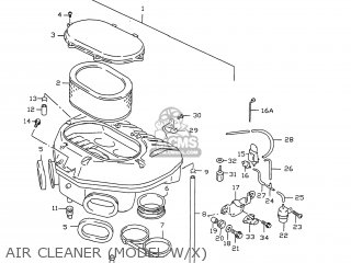 Suzuki GSXR750 1996 (T) USA (E03) parts lists and schematics