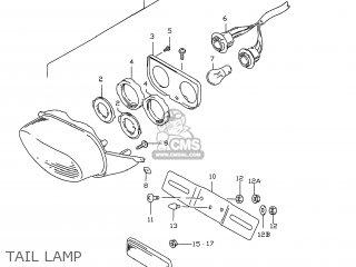 Suzuki GSXR750 1996 (T) USA (E03) parts lists and schematics
