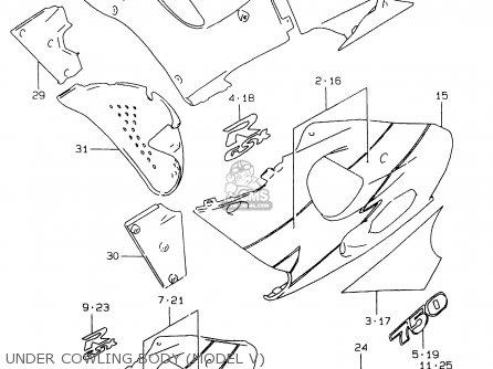 Suzuki Gsxr750 1997 (v) (e02 E04 E18 E22 E24 E25 E34 E39