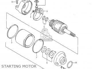 Suzuki GSXR750 1998 (W) USA (E03) parts lists and schematics
