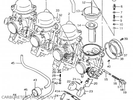 Suzuki Gsxr750 1999 (x) parts list partsmanual partsfiche