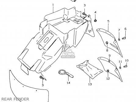 Suzuki Gsxr750 1999 (x) parts list partsmanual partsfiche