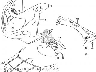 Suzuki GSXR750 2003 (K3) USA (E03) parts lists and schematics