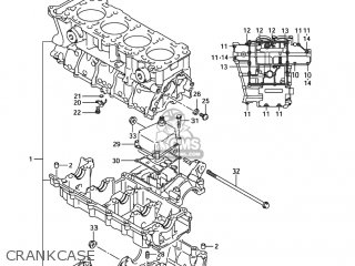 Suzuki GSXR750 2004 (K4) USA (E03) parts lists and schematics