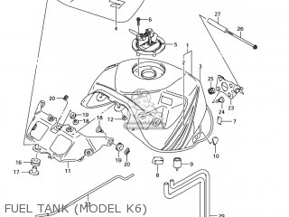 Suzuki Gsxr750 2006 (k6) Usa (e03) parts list partsmanual