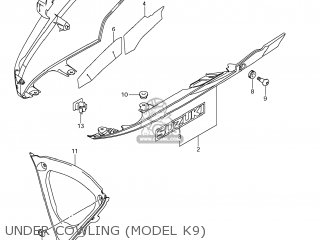 Suzuki GSXR750 2008 (K8) USA (E03) parts lists and schematics