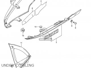 Suzuki GSXR750 2008 (K8) USA (E03) parts lists and schematics
