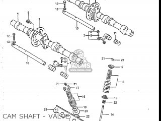 Suzuki GSXR750R 1986 (G) USA (E03) parts lists and schematics