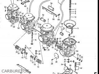 Suzuki Gsxr750r 1986 (g) Usa (e03) parts list partsmanual