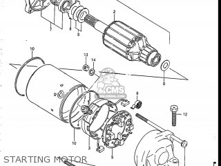 Suzuki GSXR750R 1986 (G) USA (E03) parts lists and schematics