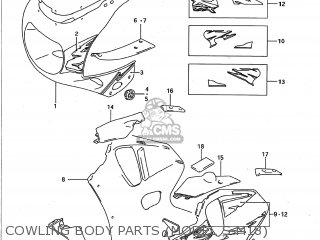 Suzuki Gsxr750w 1993 (p) Usa (e03) parts list partsmanual