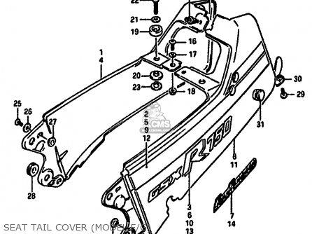 Suzuki Gsxr750x 1987 (h) (e01 E02 4 6 15 16 17 18 21 22 24