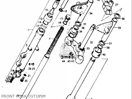 Suzuki Gt185 1973 1974 1975 1976 1977 (k) (l) (m) (a) (b