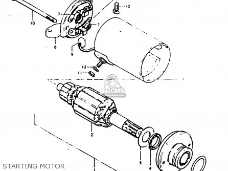 Suzuki Gt200 1979 (en) parts list partsmanual partsfiche
