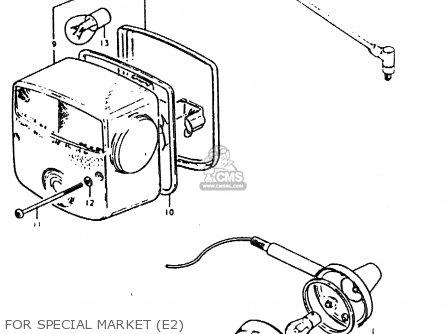 Suzuki Gt200 1979 (n) General Export (e01) parts list