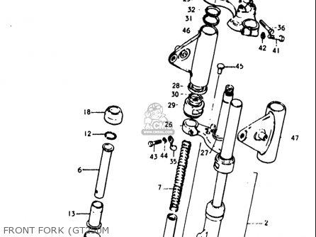Suzuki Gt250 1973-1977 (usa) parts list partsmanual partsfiche