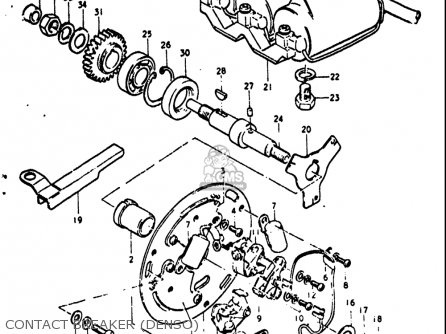 Suzuki GT380 1972 (J) USA (E03) parts lists and schematics
