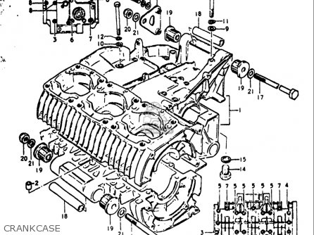 Suzuki GT380 1972 (J) USA (E03) parts lists and schematics