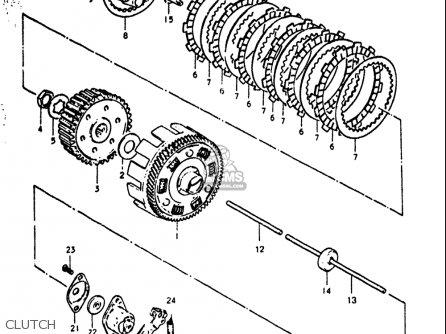 Suzuki Gt380 1972 (usa) parts list partsmanual partsfiche