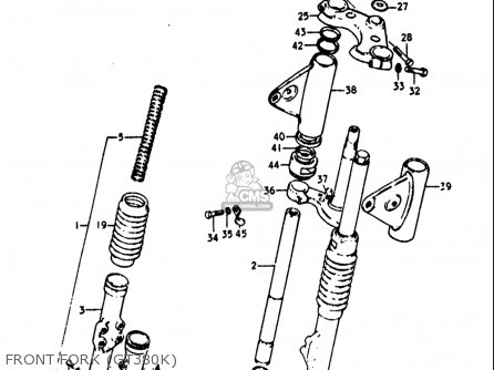 Suzuki Gt380 1973 1974 1975 1976 1977 (k) (l) (m) (a) (b