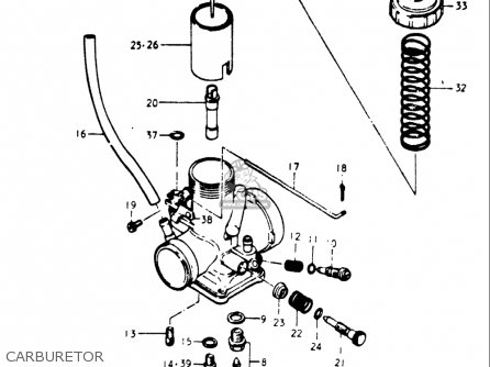 Suzuki Gt500 1976-1977 (usa) parts list partsmanual partsfiche