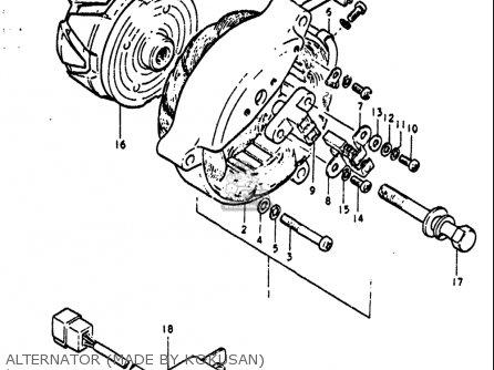 Suzuki GT550 1972 (J) USA (E03) parts lists and schematics