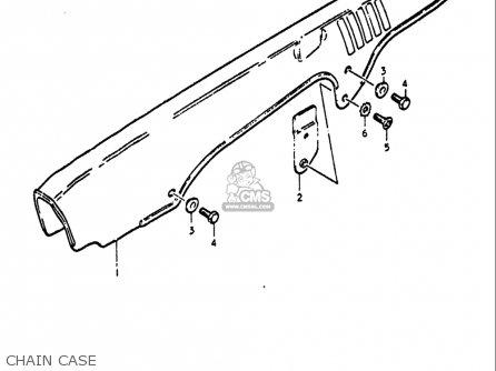 Suzuki Gt550 1972 (usa) parts list partsmanual partsfiche