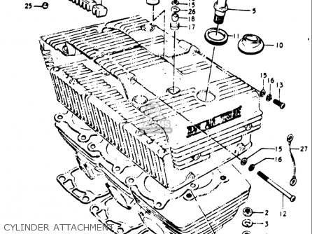 6 Cylinder Engine Diagram 1975 Cylinder Head Diagram