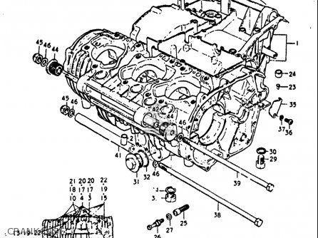 Suzuki GT750 1972 (J) USA (E03) parts lists and schematics
