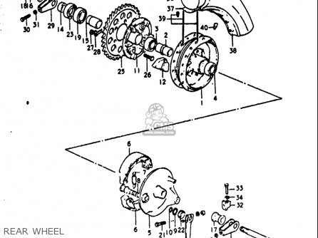 Suzuki GT750 1972 (J) USA (E03) parts lists and schematics