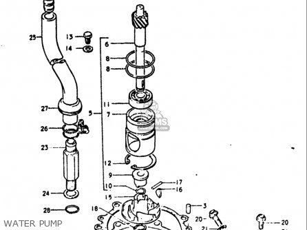 Suzuki Gt750 1972 (usa) parts list partsmanual partsfiche