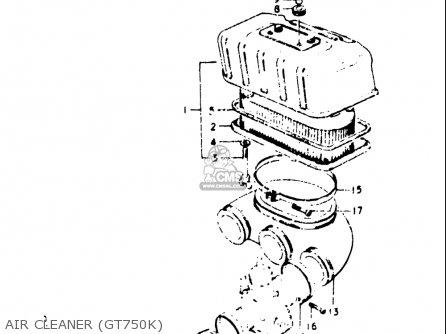 Suzuki Gt750 1973-1977 (usa) parts list partsmanual partsfiche