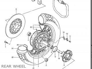 Suzuki GV1200GLF MADURA 1985 (F) USA (E03) parts lists and