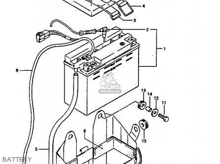 Suzuki Gv1400 1986 (gtg) parts list partsmanual partsfiche