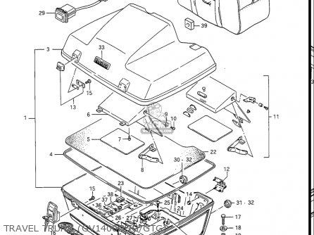 Suzuki Gv1400 Gd, Gt, Gc, 1986-1988 (usa) parts list