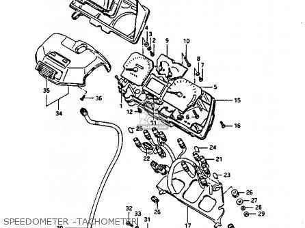 Suzuki GV1400GC 1986 (G) (E01) parts lists and schematics