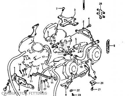Suzuki Gv1400gt 1986 (g) (e01) parts list partsmanual