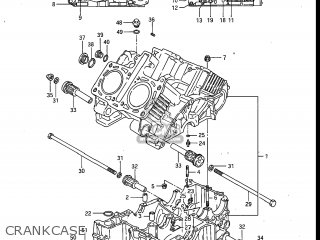 Suzuki GV700GLF MADURA 1985 (F) USA (E03) parts lists and