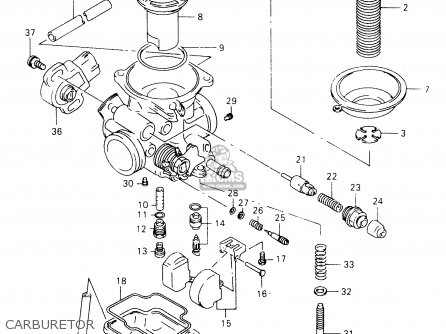 Suzuki Gz125 1999 (x) (e01) parts list partsmanual partsfiche