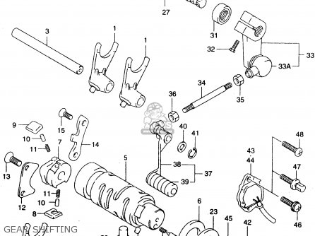 Suzuki Gz125 2000 (y) (e01) parts list partsmanual partsfiche