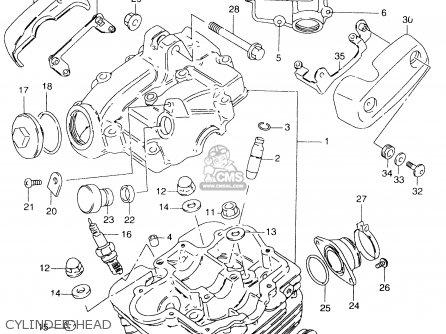Suzuki Gz125c 2000 (y) (e01) parts list partsmanual partsfiche