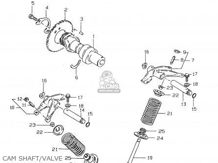 Suzuki Gz250 1999 (x) parts list partsmanual partsfiche