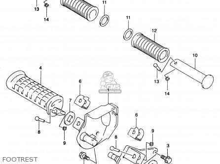 Suzuki Gz250 2000 (y) (e01) parts list partsmanual partsfiche
