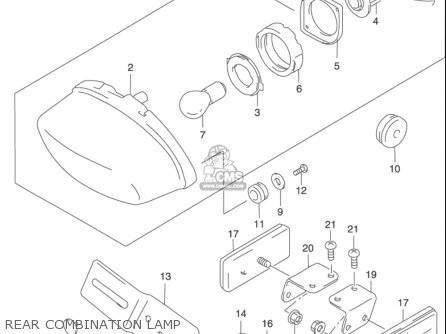 Suzuki Gz250 2002 (usa) parts list partsmanual partsfiche