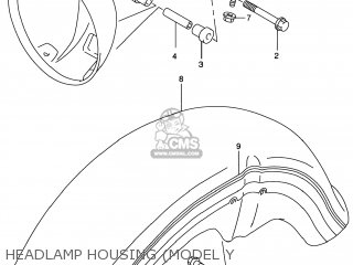 Suzuki GZ250 MARAUDER 1999 (X) USA (E03) parts lists and