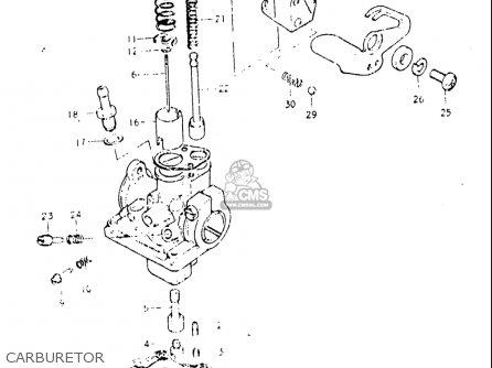 Suzuki Jr 50 Carburetor Diagram Honda CRF 50 Carburetor